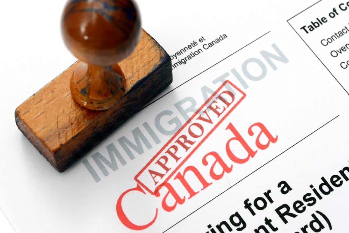 approved visa stamp for Canadian immigration | immigrate to Canada in 2020