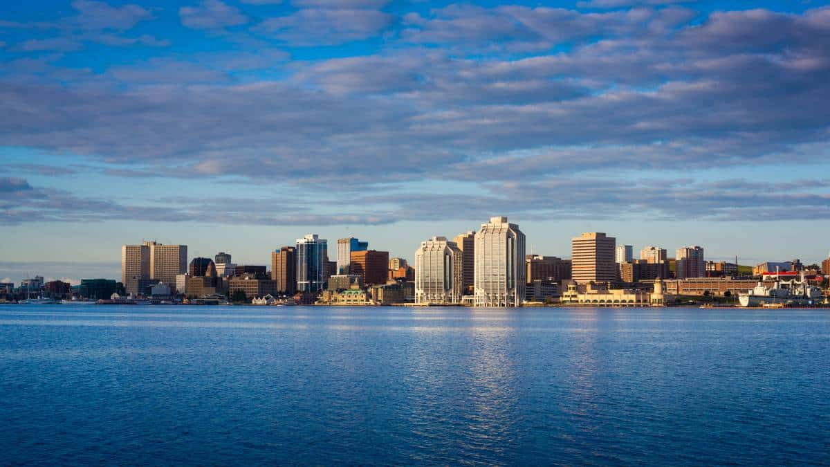 downtown-Halifax-waterfront-and-Purdy's-Wharf-Halifax-Nova Scotia-Canada   tops jobs in Nova Scotia Canada