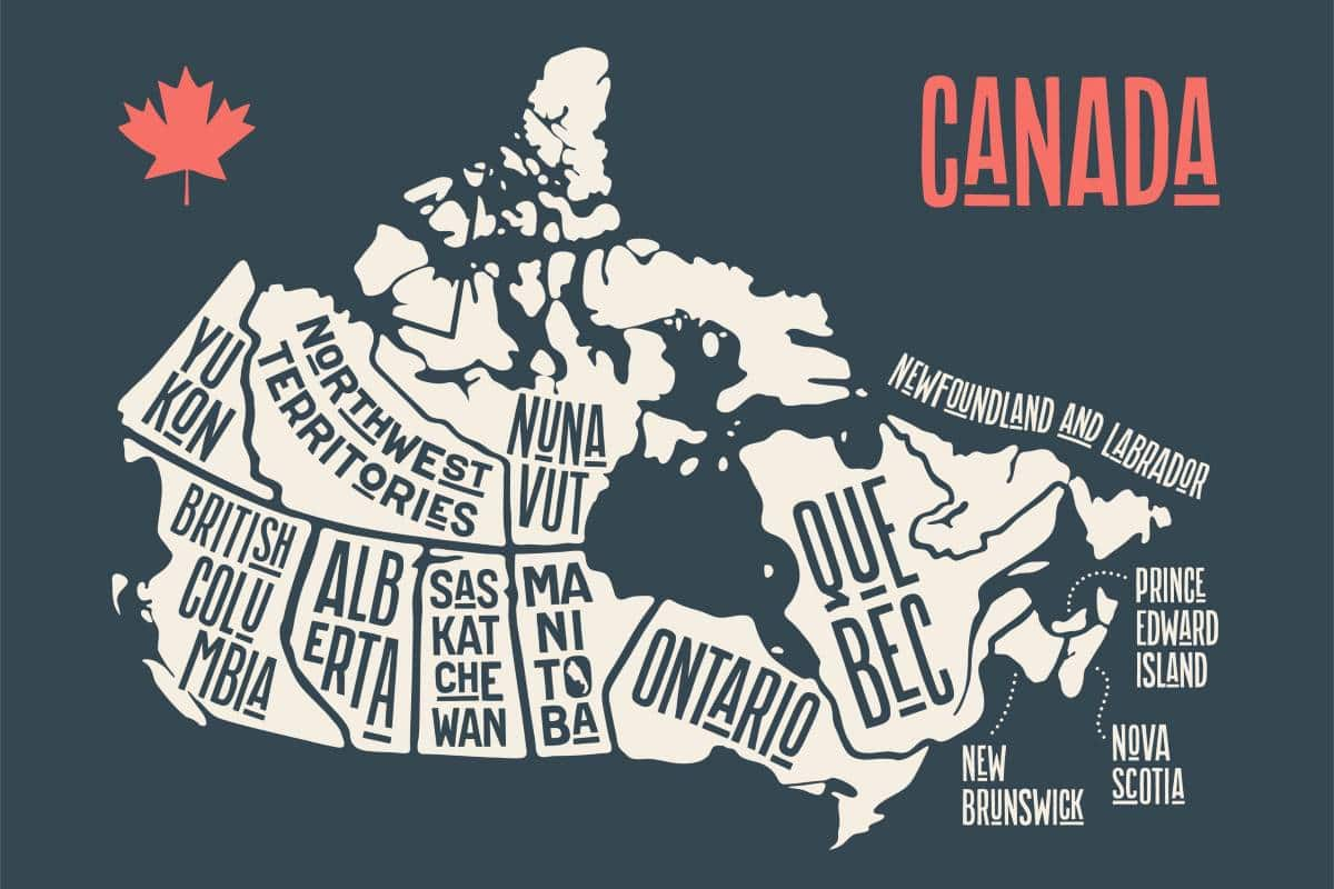 map of canada | immigrate to Canada