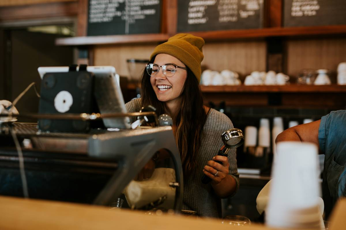 Barista working in Canada