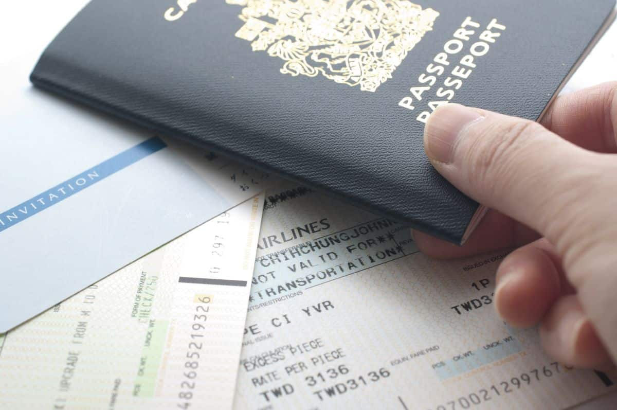 Canadian Passport and Boarding Ticket