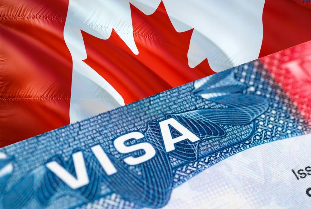 visa canada flag